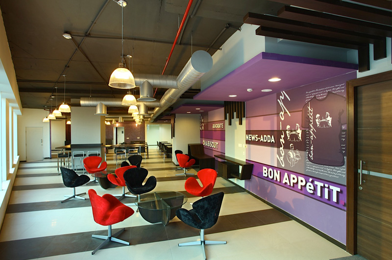 an alleviating office interior design for better work output